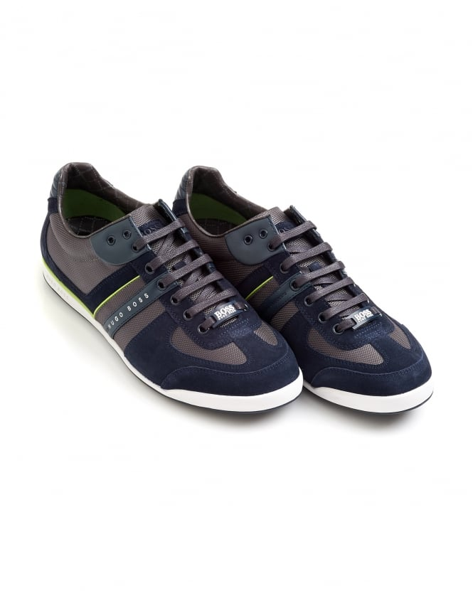 Hugo Boss Green Mens Akeen Trainers, Navy Blue Sneakers