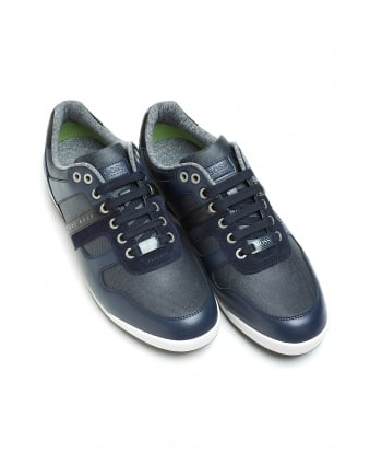 Mens Arkansas_Lowp_dnc trainers, Low-Top Dark Blue Sneakers