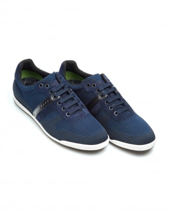 Mens Arkansas_Lowp_syjq Trainers, Low Top Navy Sneakers