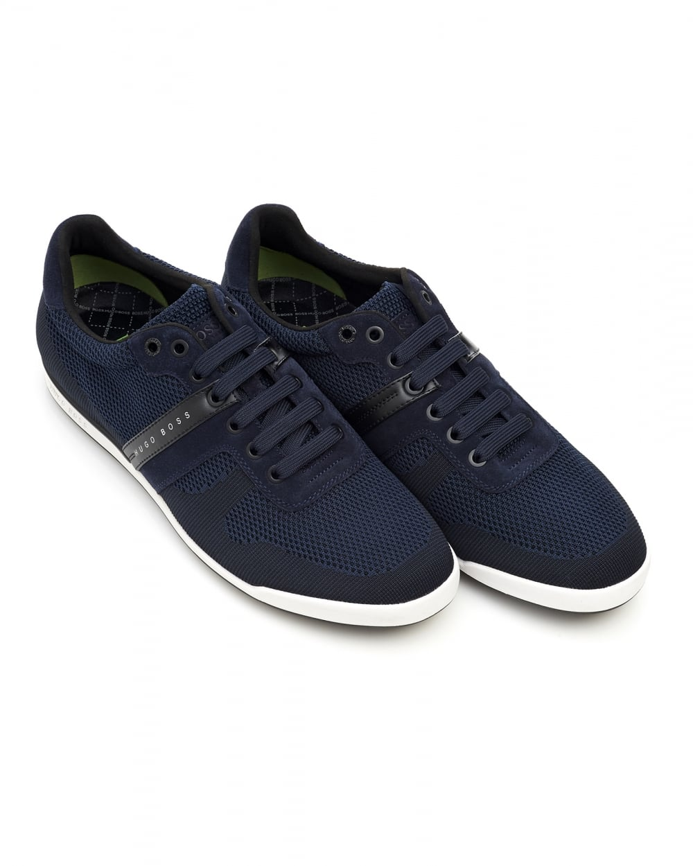 hugo boss green mens arkansas lowp syjq trainers navy. Black Bedroom Furniture Sets. Home Design Ideas