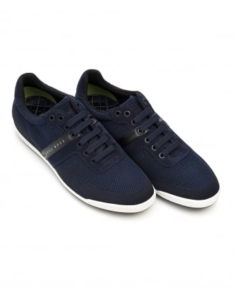 Mens Arkansas_Lowp_Syjq Trainers, Navy Blue Textured Mesh Sneakers
