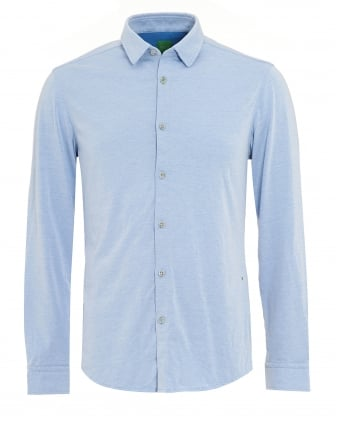 Mens Blue Jersey Regular Fit Shirt
