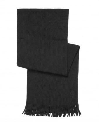Mens C-Albas Ribbed Black Scarf