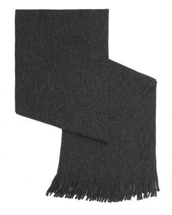 Mens C-Albas Ribbed Charcoal Grey Scarf