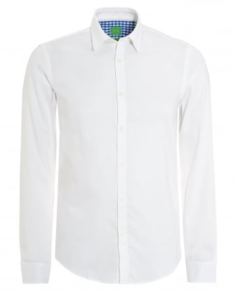 Mens C-Buster Shirt, Regular Fit Fine Dot White Shirt