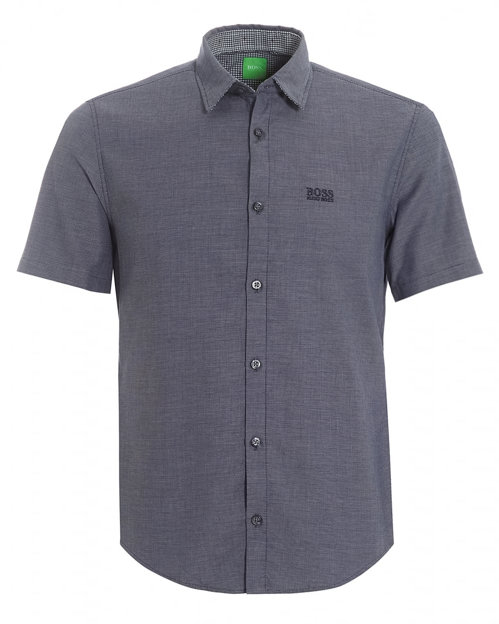 Mens C-Busterino Fine Check Navy Short Sleeve Shirt