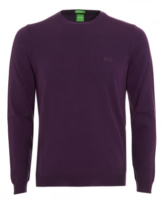 Mens C-Caio Jumper, Purple Fine Knit Sweater