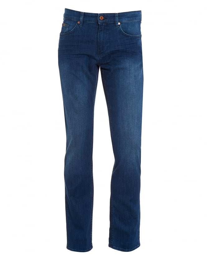 Hugo Boss Green Mens C-Delaware1 Jean, Stretch Slim Fit Mid Light Jeans