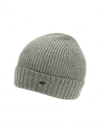 Mens C-Fati 2 Ribbed Wool Grey Beanie Hat