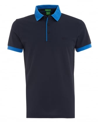 Mens C-Gonova Polo, Contrast Navy Blue Polo Shirt