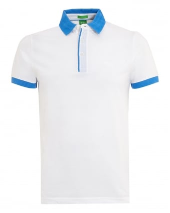Mens C-Gonova Polo, Contrast White Polo Shirt