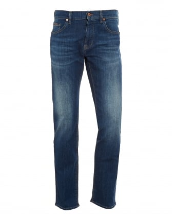 Mens C-Maine Jeans, Blue Vintage Wash Denim