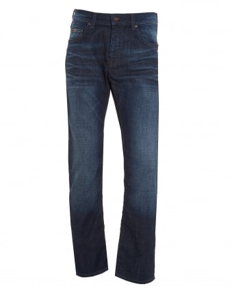 Mens C-Maine1 Jean, Regular Fit Dark Whisker Jeans