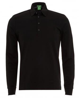 Mens C-Paderna 30 Polo Shirt, Black Long Sleeve Polo