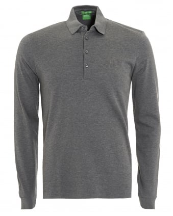 Mens C-Paderna 30 Polo Shirt, Grey Long Sleeve Polo