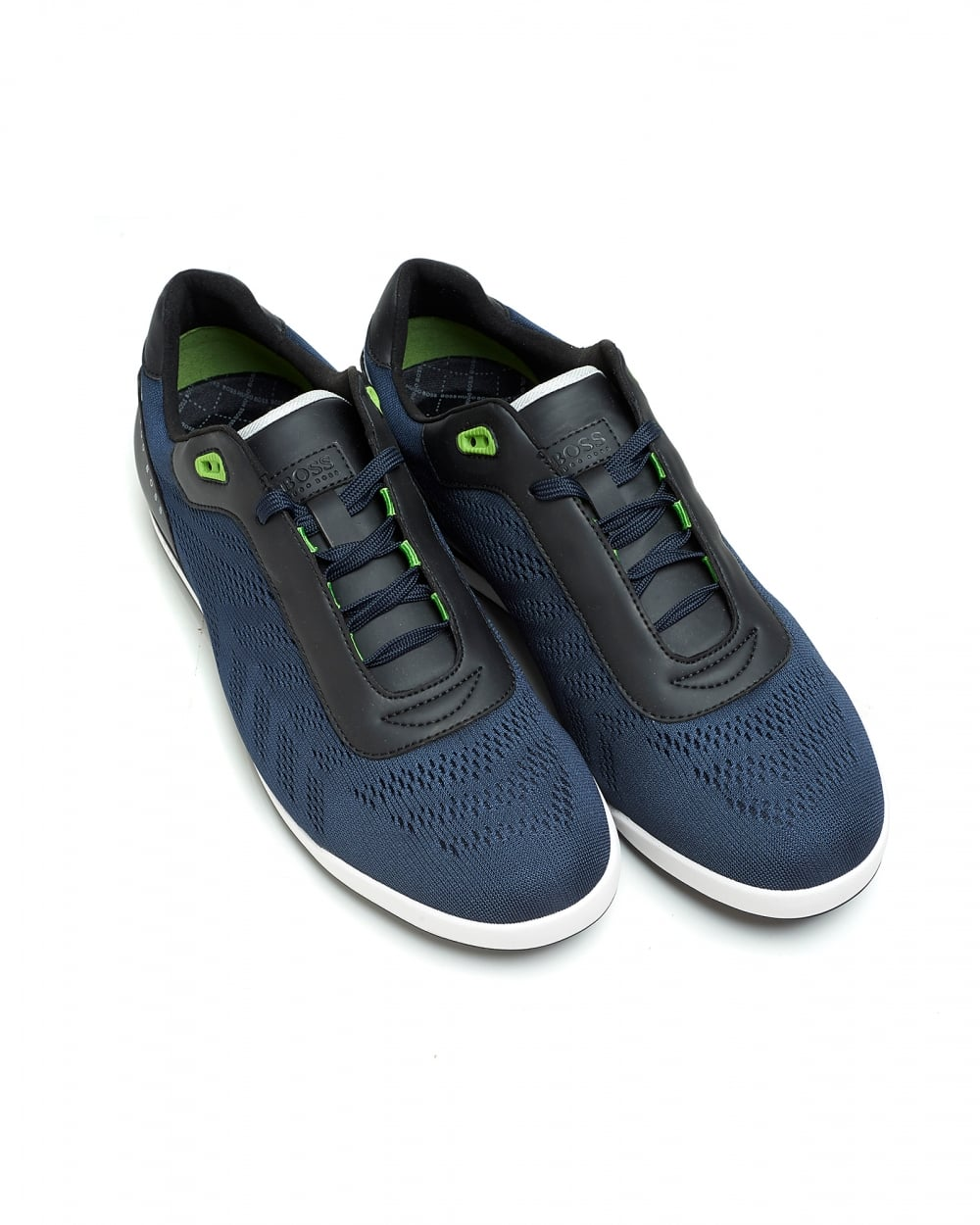hugo boss green arkansas lowp mxme low top dark blue trainers. Black Bedroom Furniture Sets. Home Design Ideas