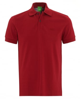 Mens Firenze Logo Polo Shirt, Red Regular Fit Polo