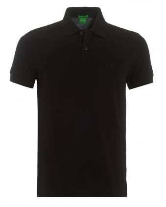 Mens Firenze Polo, Pima Cotton Black Polo Shirt