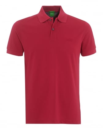 Mens Firenze Polo, Pima Cotton Granita Pink Polo Shirt