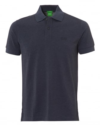 Mens Firenze Polo, Pima Cotton Night Watch Melange Polo Shirt
