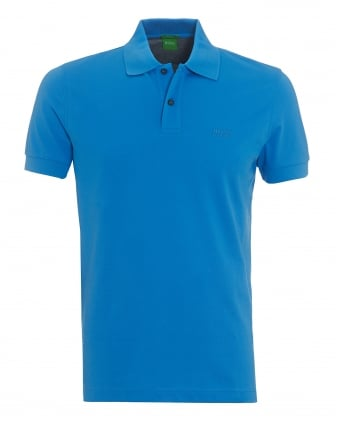Mens Firenze Polo, Pima Cotton Regatta Blue Polo Shirt