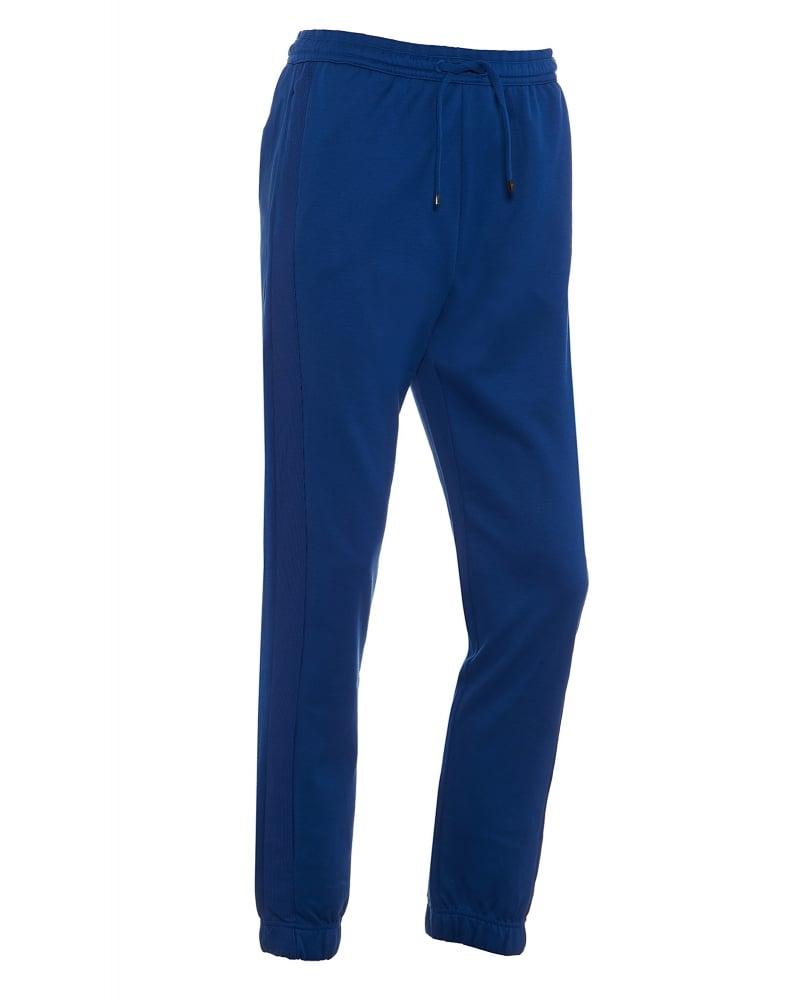 Mens Hadiko Track Pants Blue Cuffed Trackpant