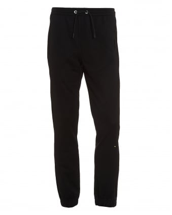 Mens Hadiko Track Pants, Cuffed Black Sweatpants