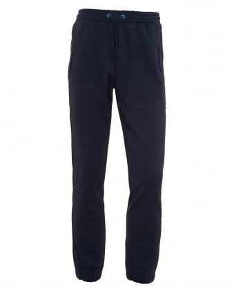 Mens Hadiko Track Pants, Cuffed Navy Blue Sweatpants