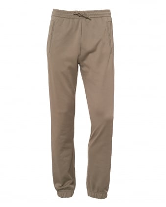 Mens Hadiko Trackpants, Cuffed Ankles Light Olive Green Sweatpants