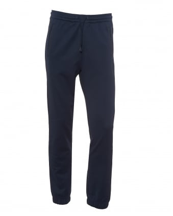 Mens Hadiko Trackpants, Cuffed Ankles Navy Blue Sweatpants