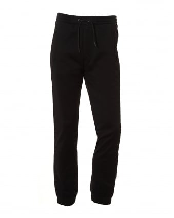 Mens Hadiko Trackpants, Cuffed Black Sweatpants