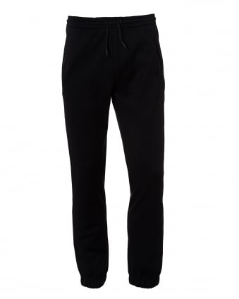 Mens Hadiko Trackpants, Leg Logo Black Sweatpants