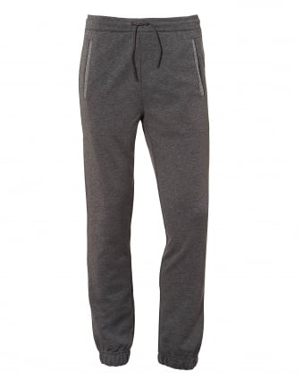 Mens Hadiko Trackpants, Leg Logo Grey Sweatpants