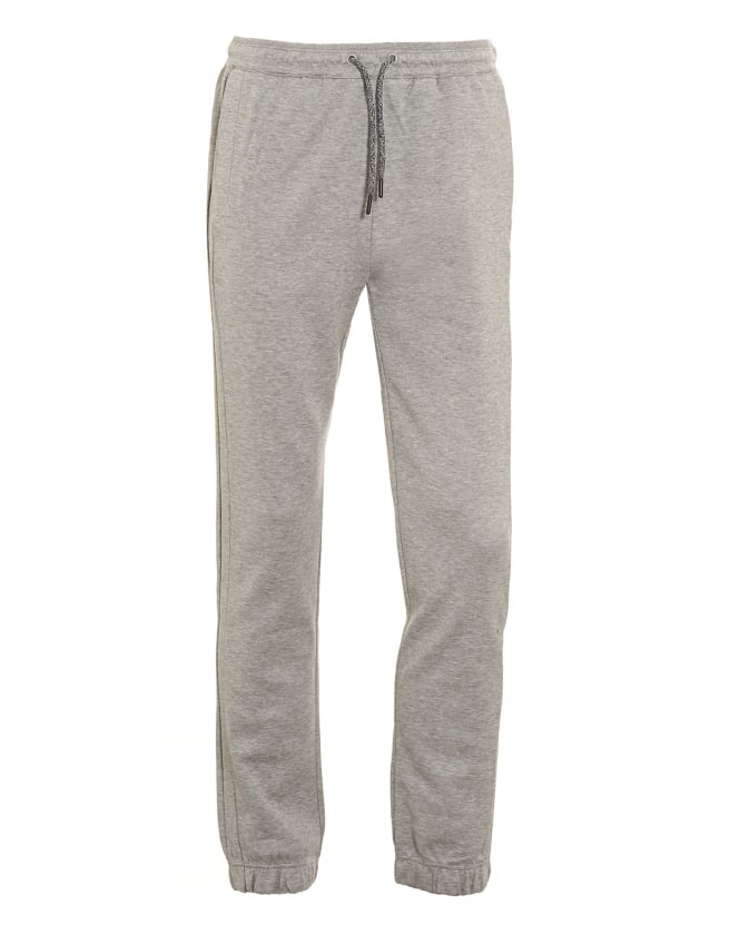 Hugo Boss Green Mens Hadiko Tracksuit Bottoms, Grey Sweat Pants