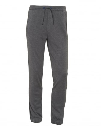 Mens Hadiko Tracksuit Bottoms, Melange Grey Sweat Pants