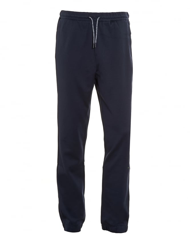 Hugo Boss Green Mens Hadiko Tracksuit Bottoms, Navy Blue Sweat Pants