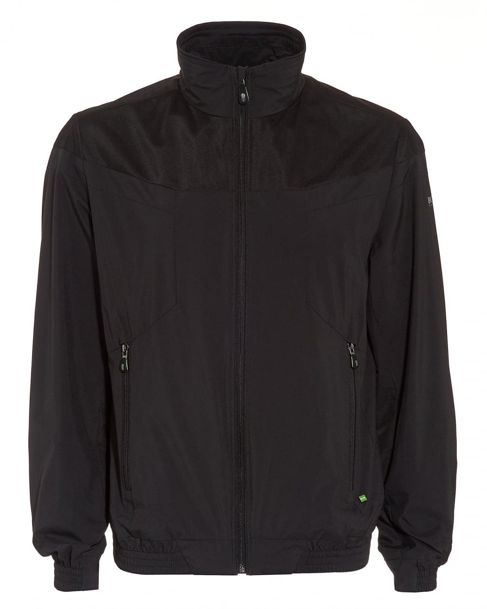 Hugo Boss Green Mens Jalomo 3 Jacket Black Neoprene