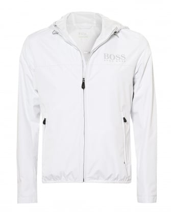 Mens Jeltech Water Repellent Hooded White Jacket