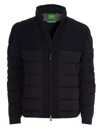 Mens Jonkins 3 Puffa, Soft Touch Micro Navy Jacket