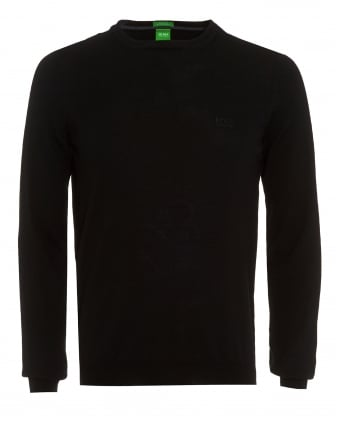 Mens Jumper, C-Caio_01 Black Wool Sweater