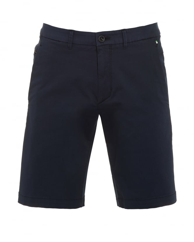 Hugo Boss Green Mens Liem2-2-W Shorts, Navy Blue Slim Fit Cotton Blend