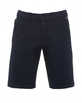Mens Liem2-2-W Shorts, Navy Blue Slim Fit Cotton Blend