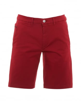 Mens Liem2-2-W Shorts, Red Slim Fit Cotton Blend