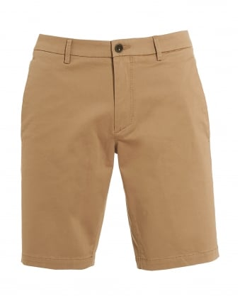 Hugo Boss Green Mens Liem4-W Beige Cotton Slim Fit Shorts