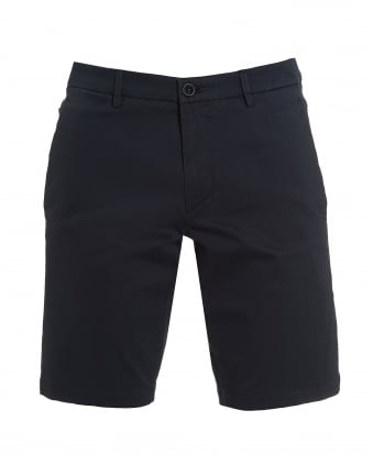 Hugo Boss Green Mens Liem4-W Navy Blue Cotton Slim Fit Shorts