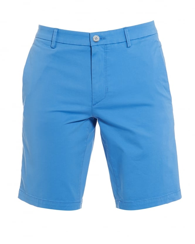 Hugo Boss Green Mens Liem4-W Sky Blue Cotton Slim Fit Shorts