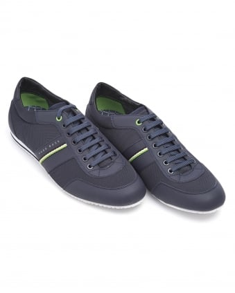 Mens Lighter Low NEPR Trainer, Navy Blue Lace Up Sneaker