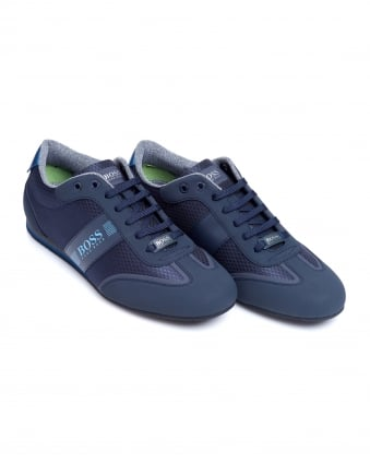 Mens Lighter Low Trainers, Navy Blue Sneakers