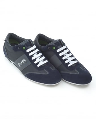Mens Lighter_Lowp_cvc Large Logo Navy Blue Trainers
