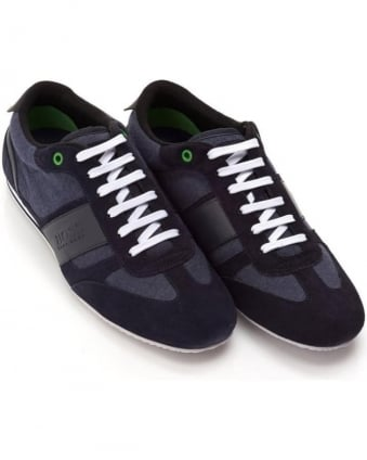 Mens Lighter_Lowp_mxjs Trainers, Navy Blue Suede Sneakers
